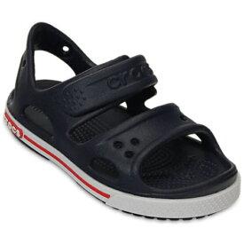 クロックス Crocs 12.0cm 子供用 サンダル Kids Crocband II Sandal(C4:Navy×White) 14854
