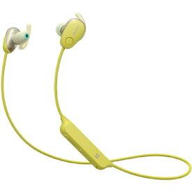 ソニー SONY ブルートゥースイヤホン カナル型 イエロー WI-SP600N YM [リモコン・マイク対応 /ワイヤレス(左右コード) /Bluetooth /ノイズキャンセリング対応][ワイヤレスイヤホン WISP600NYM]
