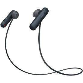 ソニー SONY ブルートゥースイヤホン ブラック WI-SP500 BQ [リモコン・マイク対応 /ワイヤレス(左右コード) /Bluetooth][ワイヤレスイヤホン WISP500BQ]