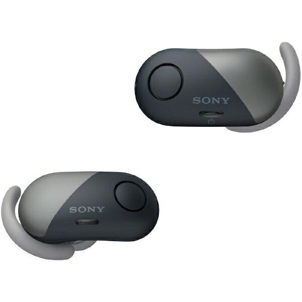 【送料無料】 ソニー フルワイヤレスイヤホン WF-SP700N BM ブラック [左右分離タイプ /Bluetooth /ノイズキャンセル対応]