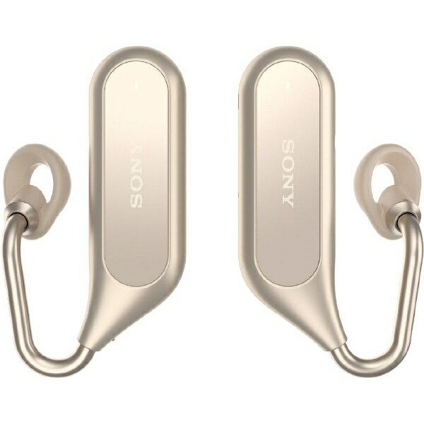 【送料無料】 ソニー フルワイヤレスイヤホン Xperia Ear Duo XEA20JP ゴールド [左右分離タイプ /Bluetooth]