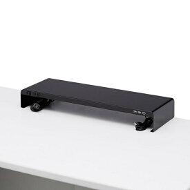 サンワサプライ SANWA SUPPLY 電源タップ+USBポート付机上ラック W600xD200 ブラック