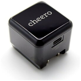 ティアールエイ TRA [Type-C給電]スマホ用USB充電コンセントアダプタ Type-C充電器 USB PD対応 3A (1ポート) CHE-324 ブラック