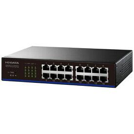 I-O DATA アイ・オー・データ スイッチングハブ[16ポート・100/10Mbps・電源内蔵] EEE省電力機能搭載 ETX-ESH16NCシリーズ ETX-ESH16NCK ブラック[ETXESH16NCK]
