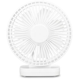 トップランド TOPLAND SF-DFC10-WT 卓上型扇風機 どこでもFAN(どこでもファン) ホワイト [DCモーター搭載][扇風機 卓上 SFDFC10WT]