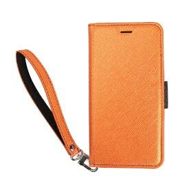 サンクチュアリ Sanctuary CoralloNU(エヌユー)合皮手帳型ケースforiPhone8Plus/7Plus/6sPlus/6Plus/オレンジブラック
