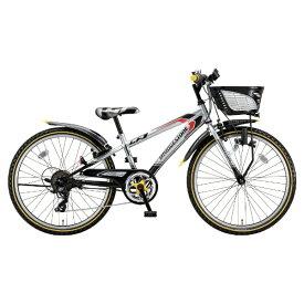 ブリヂストン BRIDGESTONE 20型 子供用自転車 クロスファイヤー ジュニア(シルバー&ブラック/6段変速) CFJ06【2018年モデル】【組立商品につき返品不可】 【代金引換配送不可】