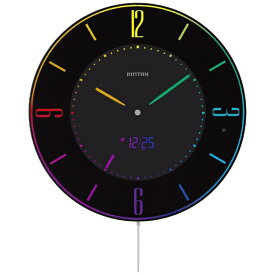 リズム時計 RHYTHM 目覚まし時計 【Iroria A】 黒 8RZ197SR02 [電波自動受信機能有]