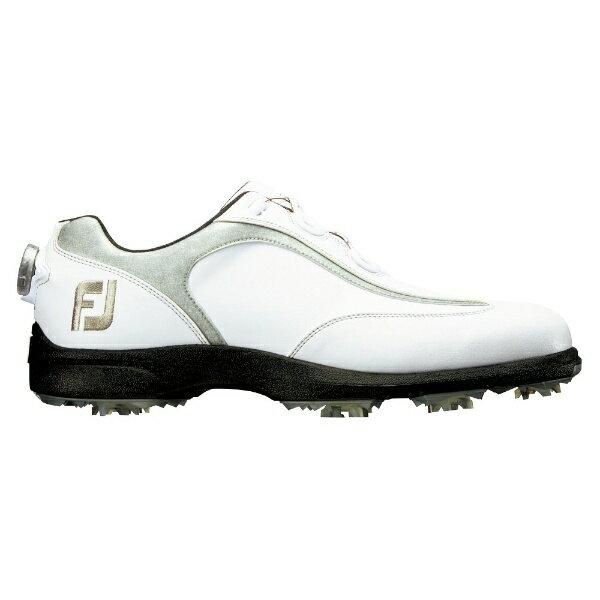 フットジョイ FootJoy メンズ ゴルフシューズ FJ SPORT LT Boa(25.5cm/ホワイト×シルバー)#53230