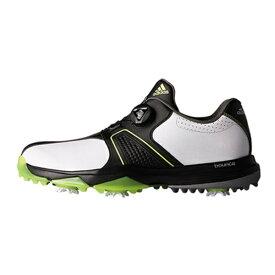 アディダス adidas メンズ ゴルフシューズ 360 traxion Boa WD(25.5cm/ホワイト×コアブラック×ソーラーイエロー)Q44730
