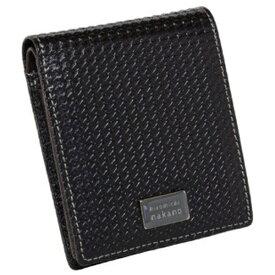 A.L.I アジア・ラゲージ 二つ折り財布 ヒロミチナカノ 6HN474 チドリ クロ