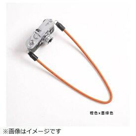 cam-in カムイン カメラストラップ DCS005227 オレンジ/モスグリーン[DCS005227]