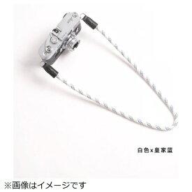 cam-in カムイン カメラストラップ DCS005229 白/ブルー[DCS005229]