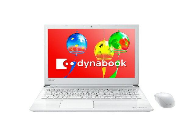 dynabook ダイナブック PT45GWP-SEA ノートパソコン dynabook (ダイナブック) リュクスホワイト [15.6型 /intel Celeron /HDD:1TB /メモリ:4GB /2018年4月モデル][PT45GWPSEA]