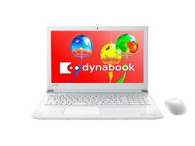 dynabook ダイナブック PT45GWP-SEA ノートパソコン dynabook (ダイナブック) リュクスホワイト [15.6型 /intel Celeron /HDD:1TB /メモリ:4GB /2018年4月モデル][15.6インチ PT45GWPSEA]