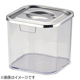 三宝産業 SAMPO SANGYO UK 薬味入れ 角キッチンポット蓋仕様 8cm <QTY3301>[QTY3301]