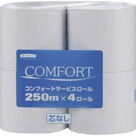 日本製紙クレシア crecia コンフォートサービスロール 芯なし 1ケース [シングル /32ロール /250m /無香 /無香][KKV4201]