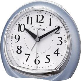 リズム時計 RHYTHM 目覚まし時計 リフレR665 青メタリック(白) 8RE665SR04 [アナログ]