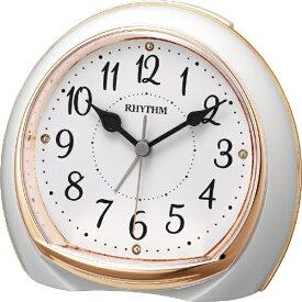 リズム時計 RHYTHM 目覚まし時計 リフレR665 ピンク(白) 8RE665SR13 [アナログ]