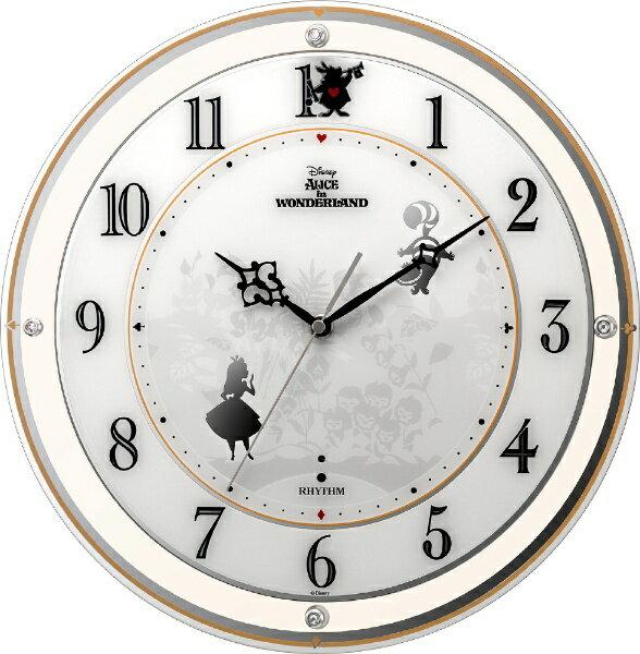 リズム時計 RHYTHM 電波掛時計 4MY854MC14 アリス