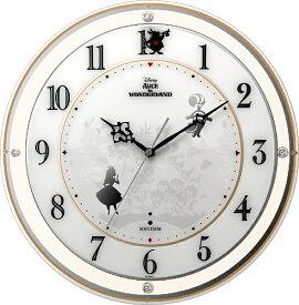 リズム時計 RHYTHM 掛け時計 【カケトケイ854/アリス】 オレンジ 4MY854MC14 [電波自動受信機能有]