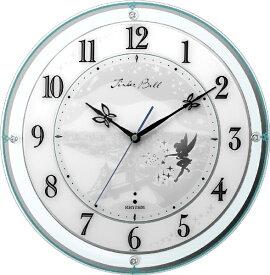 リズム時計 RHYTHM 掛け時計 【カケトケイ854/ティンカーベル】 緑 4MY854MT05 [電波自動受信機能有]