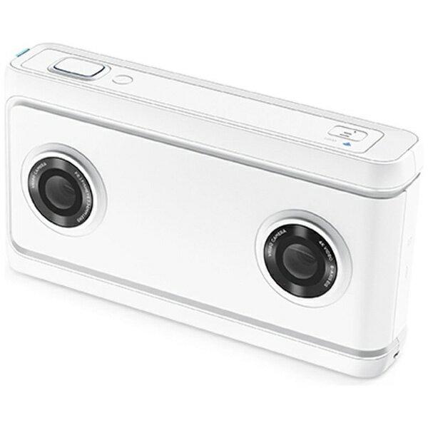 【送料無料】 レノボジャパン microSD対応 16GBメモリー内蔵 VR180対応4Kカメラ Lenovo Mirage Camera with Daydream ムーンライトホワイト ZA3A0011JP