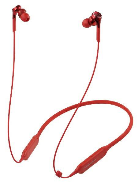 【送料無料】 オーディオテクニカ Bluetoothイヤホン ATH-CKS770XBT RD レッド [リモコン・マイク対応 /Bluetooth]