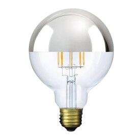ビートソニック BeatSonic LDF34 LED電球 Siphon(サイフォン) クリア・シルバーミラー [E26 /電球色 /1個 /40W相当 /ボール電球形]