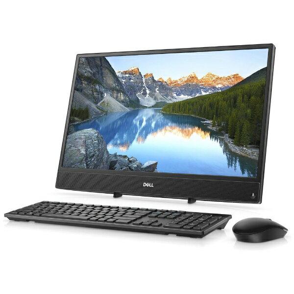 【送料無料】 DELL Inspiron 22 3000 3275 21.5型デスクトップPC[Office付き・Win10 Home・AMD E2-9000e・HDD 1TB・メモリ 4GB]2018年春モデル FI06-8HHBB ブラック