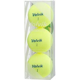 VOLVIK ボルビック 【スリーブ単位販売になります】ゴルフボール Volvik Vivid Lite《1スリーブ(3球)/シャーベットイエロー》【オウンネーム非対応】 【代金引換配送不可】