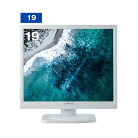 グリーンハウス GREEN HOUSE 液晶ディスプレイ GH-AAG193SDLシリーズ ホワイト GH-AAG193SDLW [スクエア /SXGA(1280×1024)][GHAAG193SDLW]