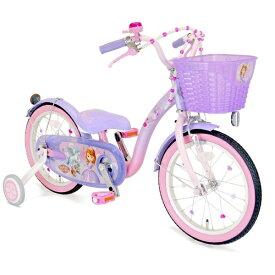 アイデス ides 16型 幼児用自転車 ソフィア&スカイ 16(パープル×ピンク/シングルシフト)【組立商品につき返品不可】 【代金引換配送不可】
