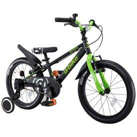 アイデス ides 18型 幼児用自転車 D-BIKE MASTER 18V 補助輪付き(ブラック/シングルシフト)【組立商品につき返品不可】 【代金引換配送不可】【メーカー直送・代金引換不可・時間指定・返品不可】