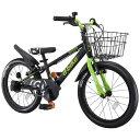 【送料無料】 アイデス 18型 幼児用自転車 D-BIKE MASTER 18V バスケット付き(ブラック/シングルシフト)【組立商品…