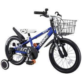 アイデス ides 16型 幼児用自転車 D-BIKE MASTER 16V 補助輪+バスケット付き(ネイビー/シングルシフト)【3歳半以上向け】【組立商品につき返品不可】 【代金引換配送不可】
