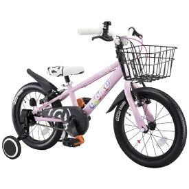 アイデス ides 16型 幼児用自転車 D-BIKE MASTER 16V 補助輪+バスケット付き(ベイビーピンク/シングルシフト)【3歳半以上向け】【組立商品につき返品不可】 【代金引換配送不可】