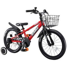 アイデス ides 18型 幼児用自転車 D-BIKE MASTER 18V 補助輪+バスケット付き(レッド/シングルシフト)【4歳半以上向け】【組立商品につき返品不可】 【代金引換配送不可】