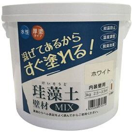 フジワラ化学 Fujiwara Chemical 珪藻土 壁材MIX 3kg ホワイト