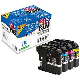 ジット JIT 互換リサイクルインクカートリッジ [ブラザー LC217/215-4PK] 4色セット(大容量) JIT-B2172154P[JITB2172154P]