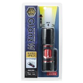 ヤザワ YAZAWA 懐中電灯 ブラック L7GAZ4507BK [LED /単4乾電池×3 /防水]