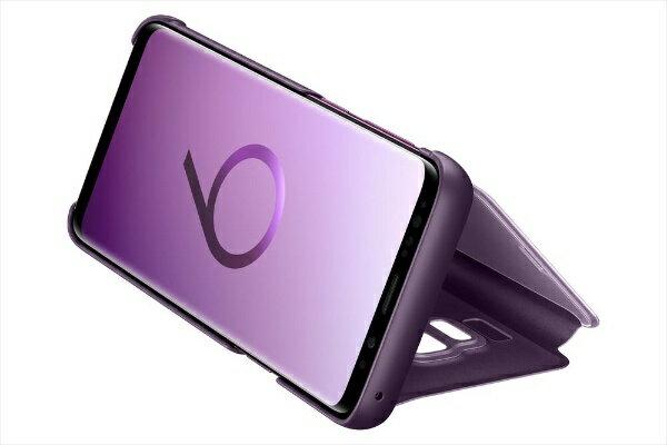 SAMSUNG サムスン 【純正】Galaxy S9用CLEAR VIEW STANDING COVER 手帳型ケース EF-ZG960CVEGJP パープル