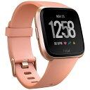 FITBIT Fitbit フィットビット スマートウォッチ Versa Peach/Rose Gold Aluminum L/Sサイズ FB505RGPK-CJK ピンク/ロ…