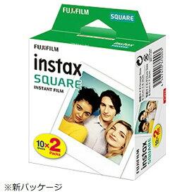 富士フイルム FUJIFILM チェキ インスタントフィルム カラー instax SQUARE [10枚 /2パック][チェキ用フィルム20枚 INSTAXSQUAREWW2]
