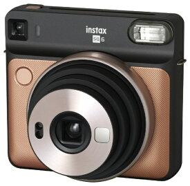 富士フイルム FUJIFILM インスタントカメラ 『チェキ』 instax SQUARE SQ6 ブラッシュゴールド[チェキ 本体 カメラ INSSQ6BLUSHGOLD]