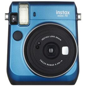 富士フイルム FUJIFILM インスタントカメラ 『チェキ』 instax mini 70N ブルー[チェキ 本体 カメラ INSMINI70NBLUE]