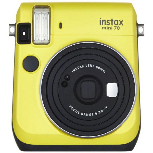 富士フイルム FUJIFILM インスタントカメラ 『チェキ』 instax mini 70N イエロー[INSMINI70NYELLOW]