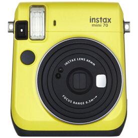 富士フイルム FUJIFILM インスタントカメラ 『チェキ』 instax mini 70N イエロー[チェキ 本体 カメラ INSMINI70NYELLOW]