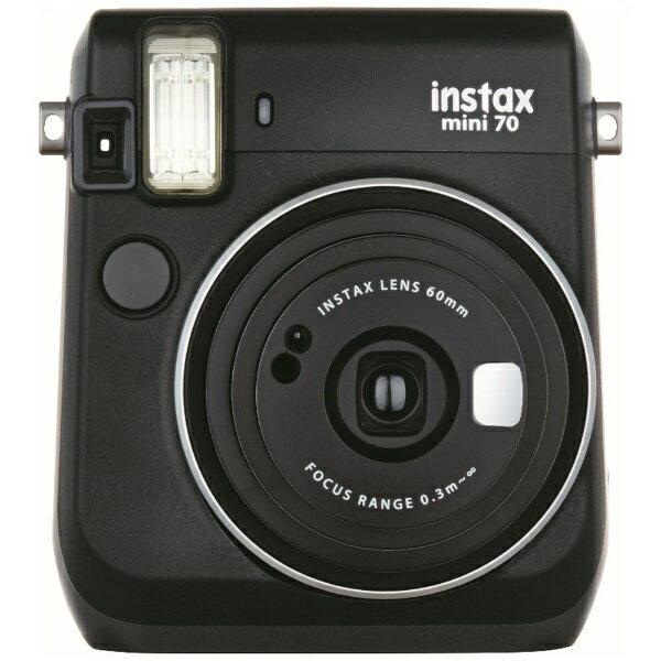 富士フイルム FUJIFILM インスタントカメラ 『チェキ』 instax mini 70N ブラック[INSMINI70NBLACK]