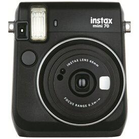 富士フイルム FUJIFILM インスタントカメラ 『チェキ』 instax mini 70N ブラック[チェキ 本体 カメラ INSMINI70NBLACK]